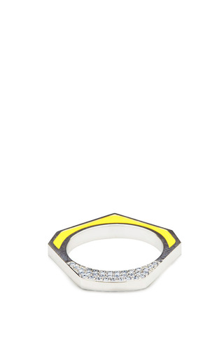 Medium eddie borgo yellow hexagon tuareg ring in yellow 2