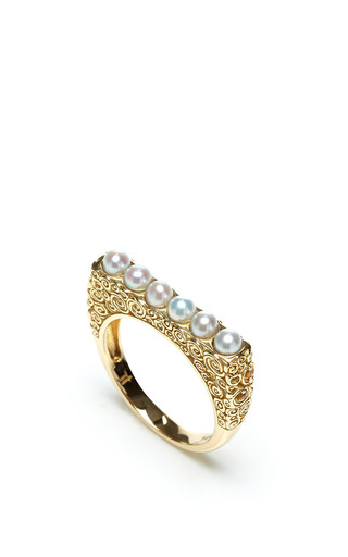 Jane Taylor Pearl Ring by JANE TAYLOR for Preorder on Moda Operandi
