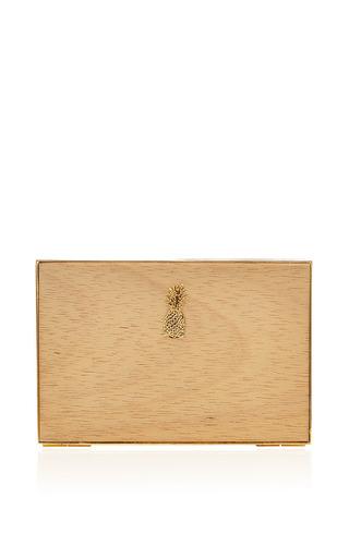 Medium osklen brown wood pineapple clutch