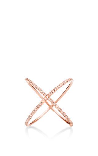 18 K Rose Gold And Pink Diamond X Ring by EVA FEHREN Now Available on Moda Operandi