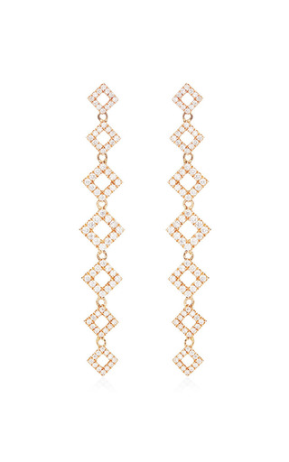 Lisa Michelle Earrings In 14 K Rose Gold by DANA REBECCA DESIGNS for Preorder on Moda Operandi