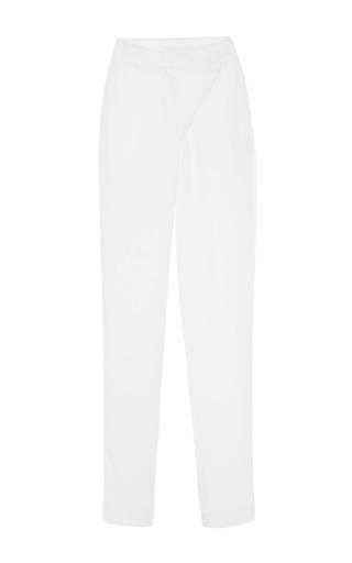 Kaelen Crepe Cross Front Pant by KAELEN for Preorder on Moda Operandi