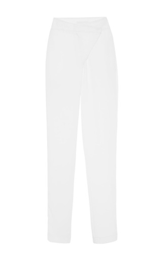 Medium kaelen white kaelen crepe cross front pant