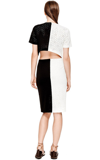 Kaelen Laser Cut Pencil Skirt by KAELEN Now Available on Moda Operandi