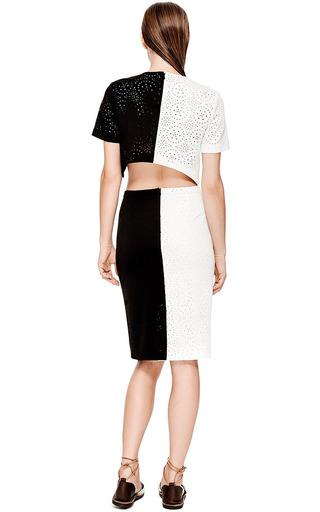 Kaelen Laser Cut Pencil Skirt by KAELEN Now Available on Moda Operandi