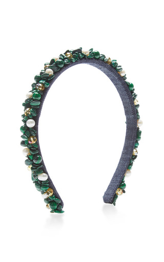 Medium masterpeace green green with pearl headband