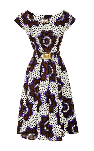 Medium lena hoschek print chocolate stars makeba dress