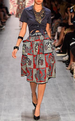 Kinshasa Skirt by LENA HOSCHEK Now Available on Moda Operandi