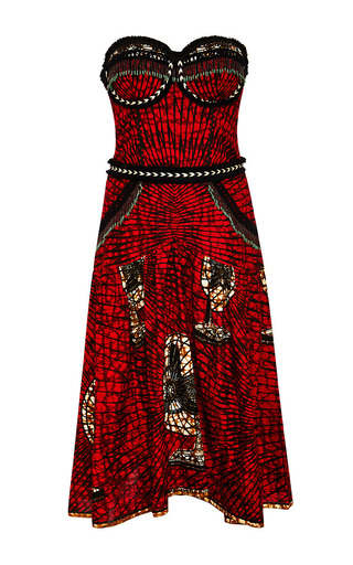 Medium lena hoschek red pata pata dress