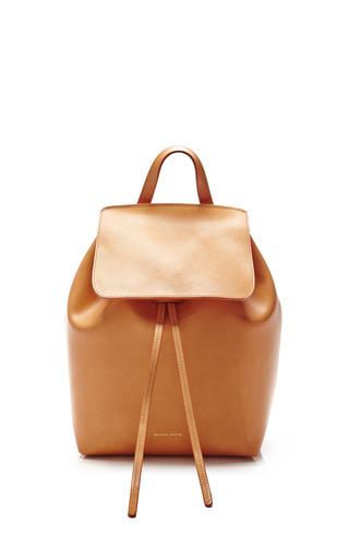 Medium mansur gavriel brown mini backpack in camello with orange 2