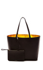 Large Tote In Black With Gold Interior by MANSUR GAVRIEL Now Available on Moda Operandi