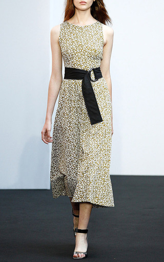 Floral Geometry Dress With Belt by DOROTHEE SCHUMACHER for Preorder on Moda Operandi