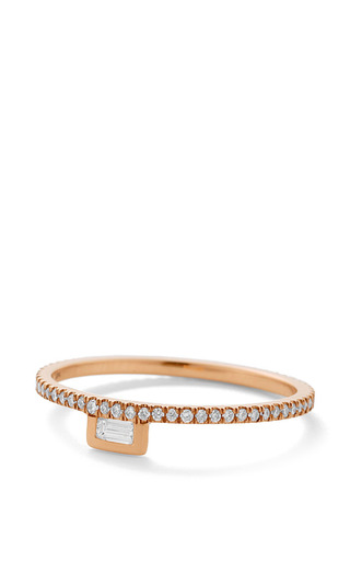 Medium monique pean gold white diamond stacking ring