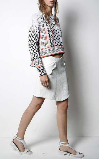 Manon Jumper In White by LALA BERLIN Now Available on Moda Operandi