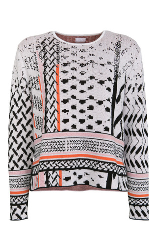 Medium lala berlin print manon jumper in white