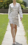 Gunnar Dress In Grey Print by PERRET SCHAAD for Preorder on Moda Operandi
