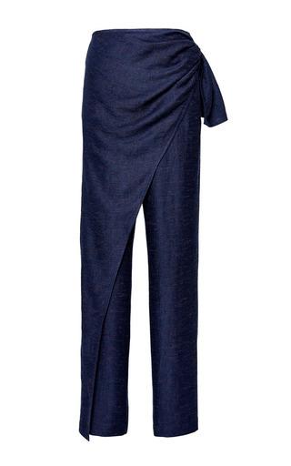 Medium perret schaad blue chingiz trousers in blue melange