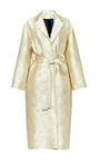 Kai Coat In Gold Laser Cut by PERRET SCHAAD for Preorder on Moda Operandi