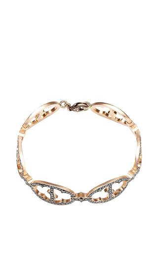 Art Deco Diamond Link Bracelet by SYLVA & CIE for Preorder on Moda Operandi