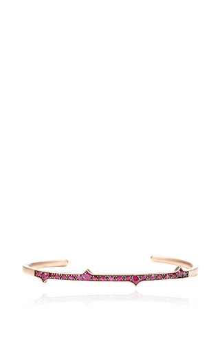 Medium sylva cie gold ruby thorn cuff