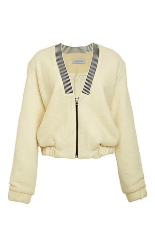 Prey Bomber Jacket In Off White by IOANA CIOLACU for Preorder on Moda Operandi