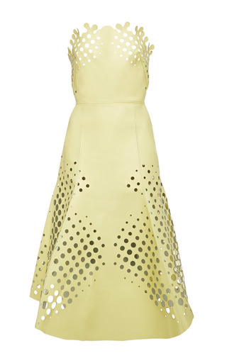 Medium ioana ciolacu yellow target dress in cosmic latte