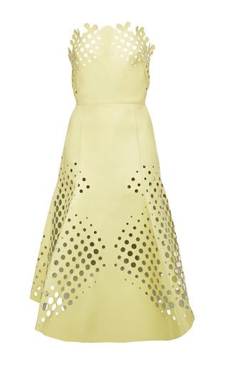 Medium ioana ciolacu yellow target dress in cosmic latte