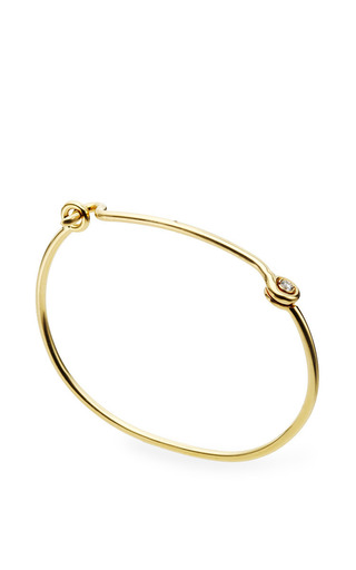 Medium janis savitt gold thin hook bracelet