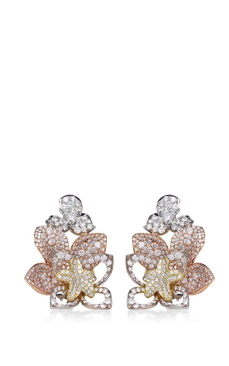 Large Lotus Flower Earrings By Kwiat Moda Operandi