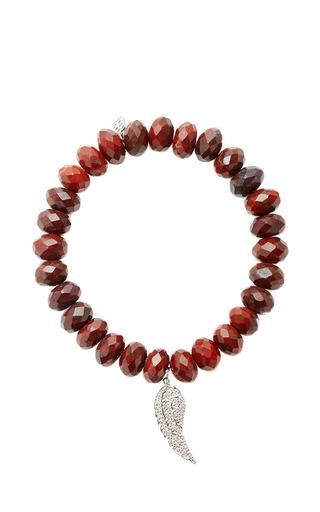 Medium sydney evan red diamond angel wing charm beaded bracelet