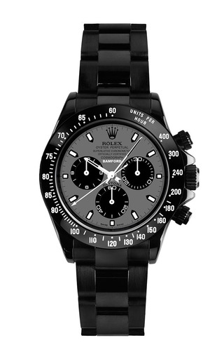 Black Daytona With Hurricane Grey Dial by BAMFORD WATCH DEPARTMENT for Preorder on Moda Operandi
