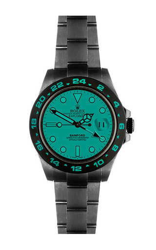 Explorer Ii Scuba With Bwd Green Dial by BAMFORD WATCH DEPARTMENT for Preorder on Moda Operandi