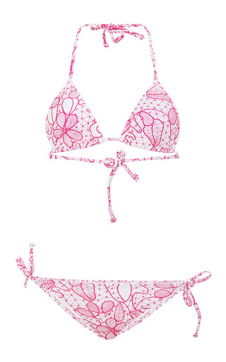 Medium isolda pink triangle bikini