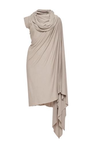 Medium rick owens lilies dark grey over the shoulder wrap drape dress
