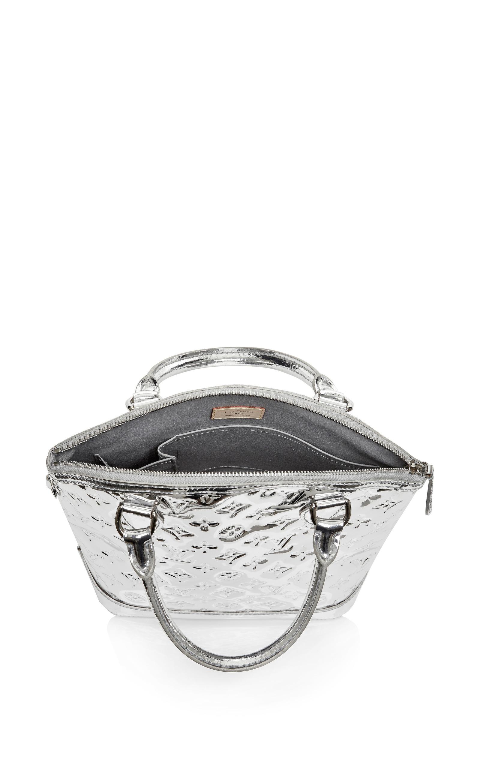 vintage louis vuitton silver miroir lockit pm by what. Black Bedroom Furniture Sets. Home Design Ideas