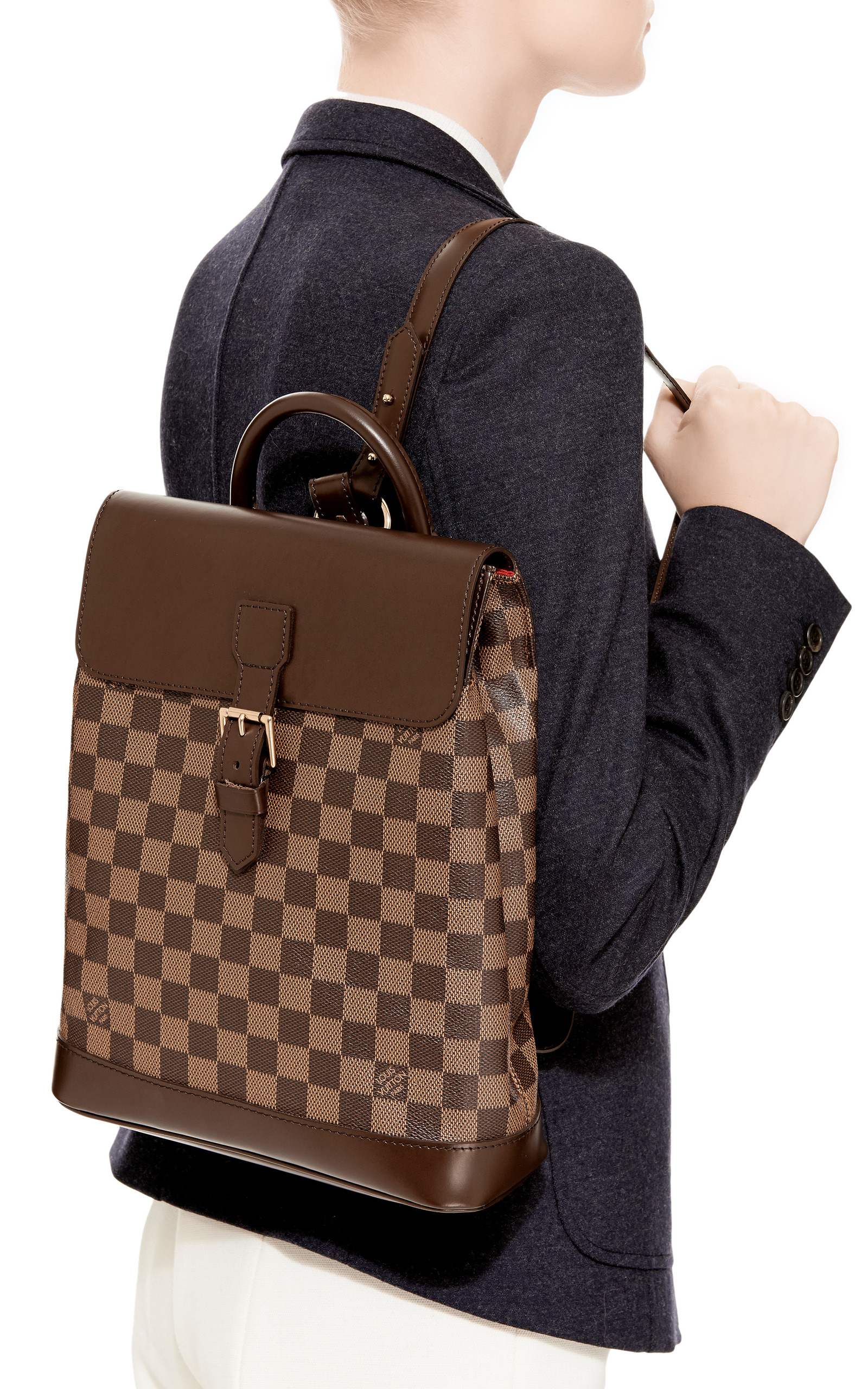 Vintage Louis Vuitton Damier Ebene Soho Backpack By Moda