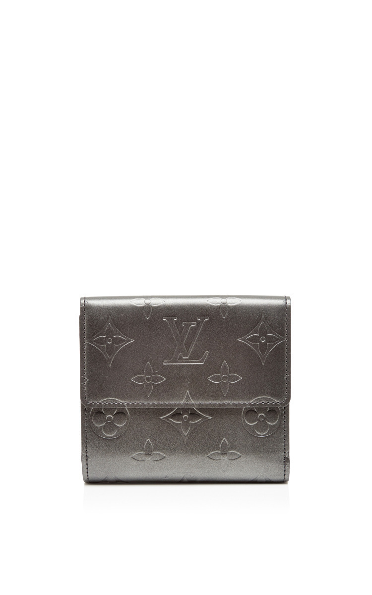 Vintage Louis Vuitton Mat Vernis Snapped Wallet By Moda