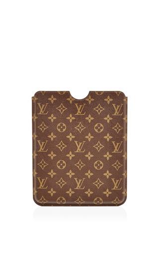 Medium what goes around comes around brown vintage louis vuitton monogram ipad case from what goes around comes around