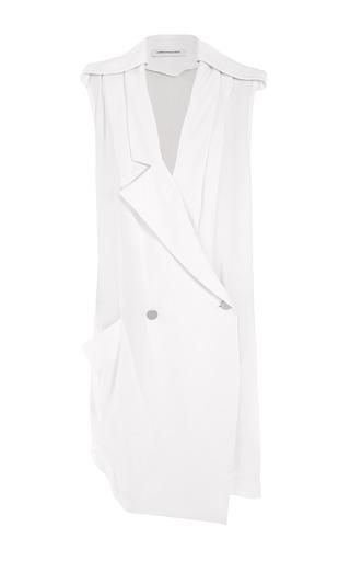 Medium christopher esber white double breasted reed vest dress