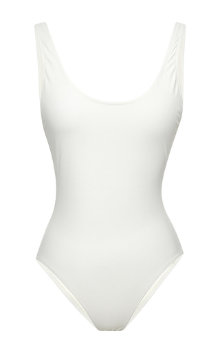 Medium solid striped white the anne marie white one piece