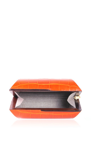 Mango Clutch In Orange by CELESTINA for Preorder on Moda Operandi