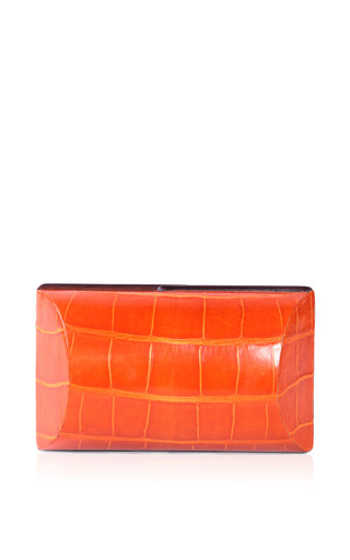 Medium celestina orange mango clutch in orange