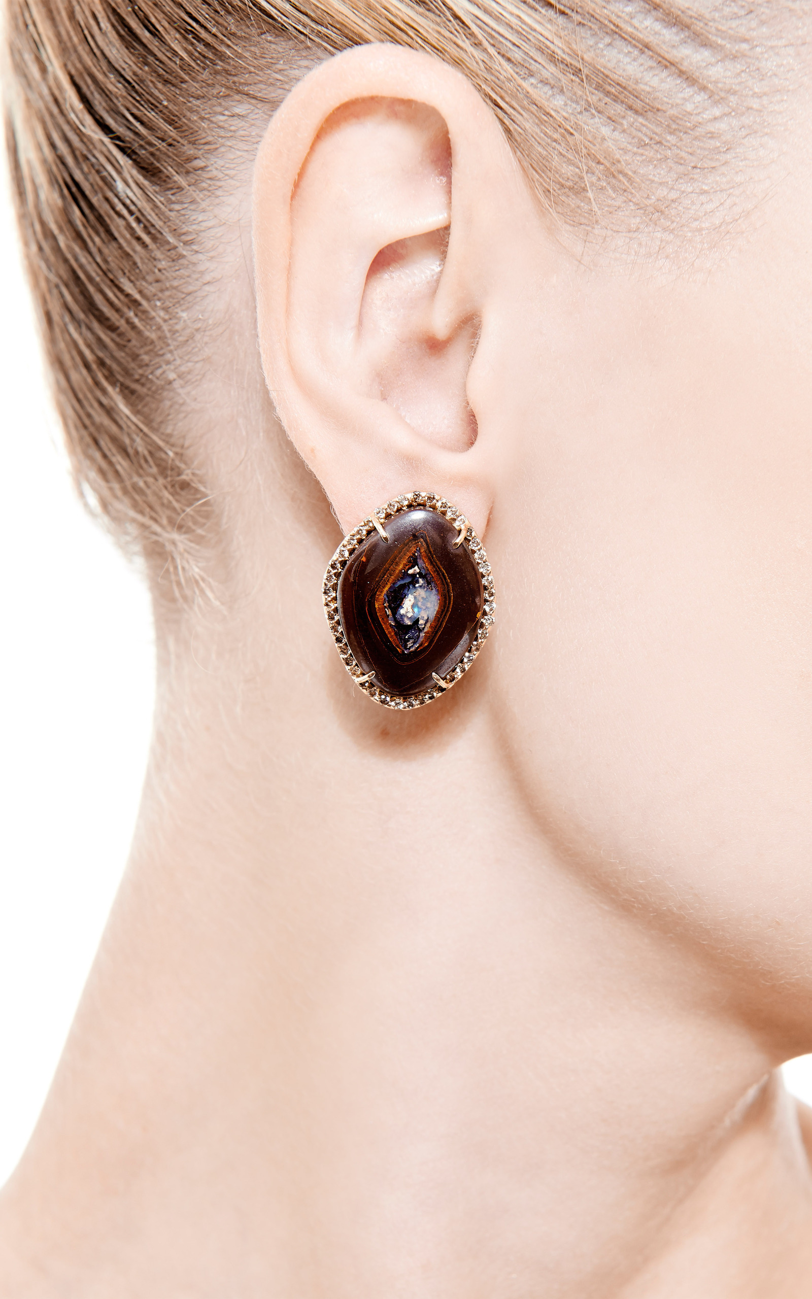 lily edition limited product stud flower jewellery collection earrings antwerp archives diamond rionore shaped brown category