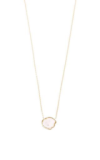 Medium kimberly mcdonald white one of a kind baby light geode in gold bezel pendant