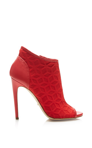 Medium jerome rosseau red adelaide bootie in red