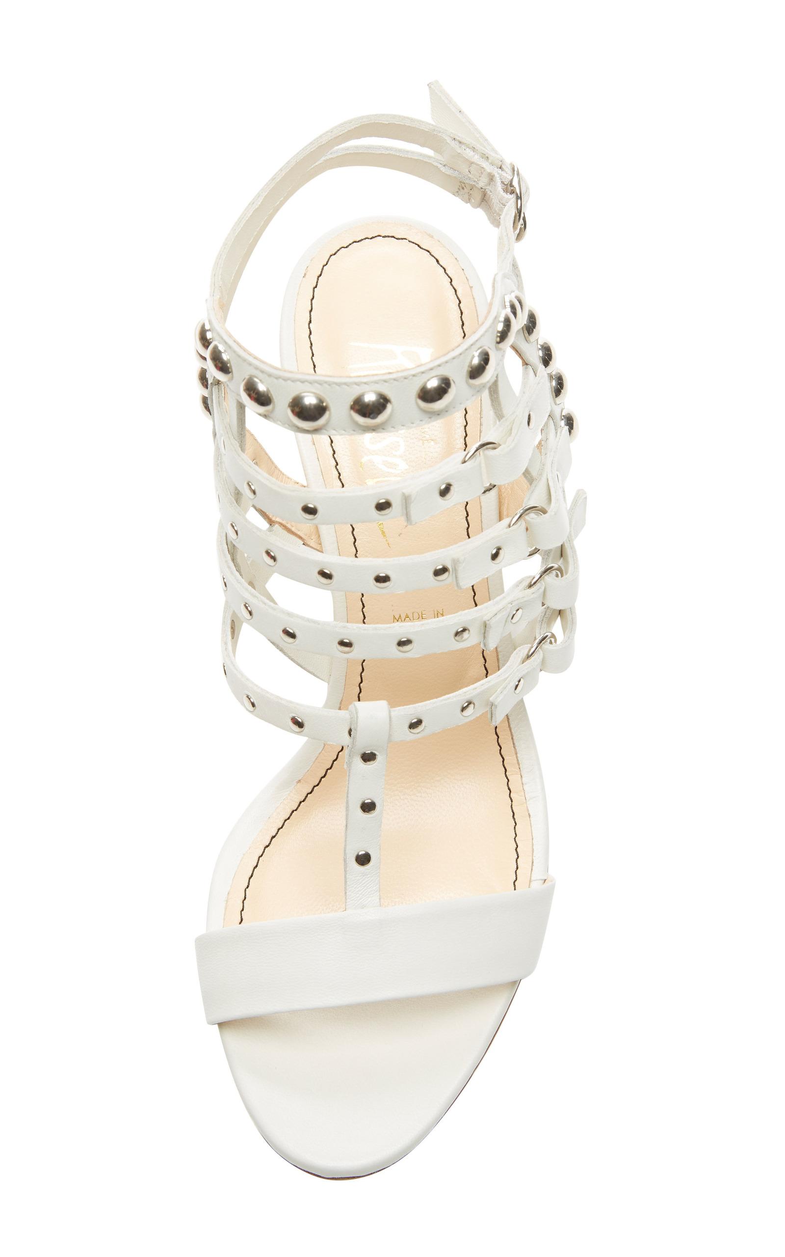 cd33040dc6e Jerome C. RousseauCamden Kitten Heel Sandal In White. CLOSE. Loading