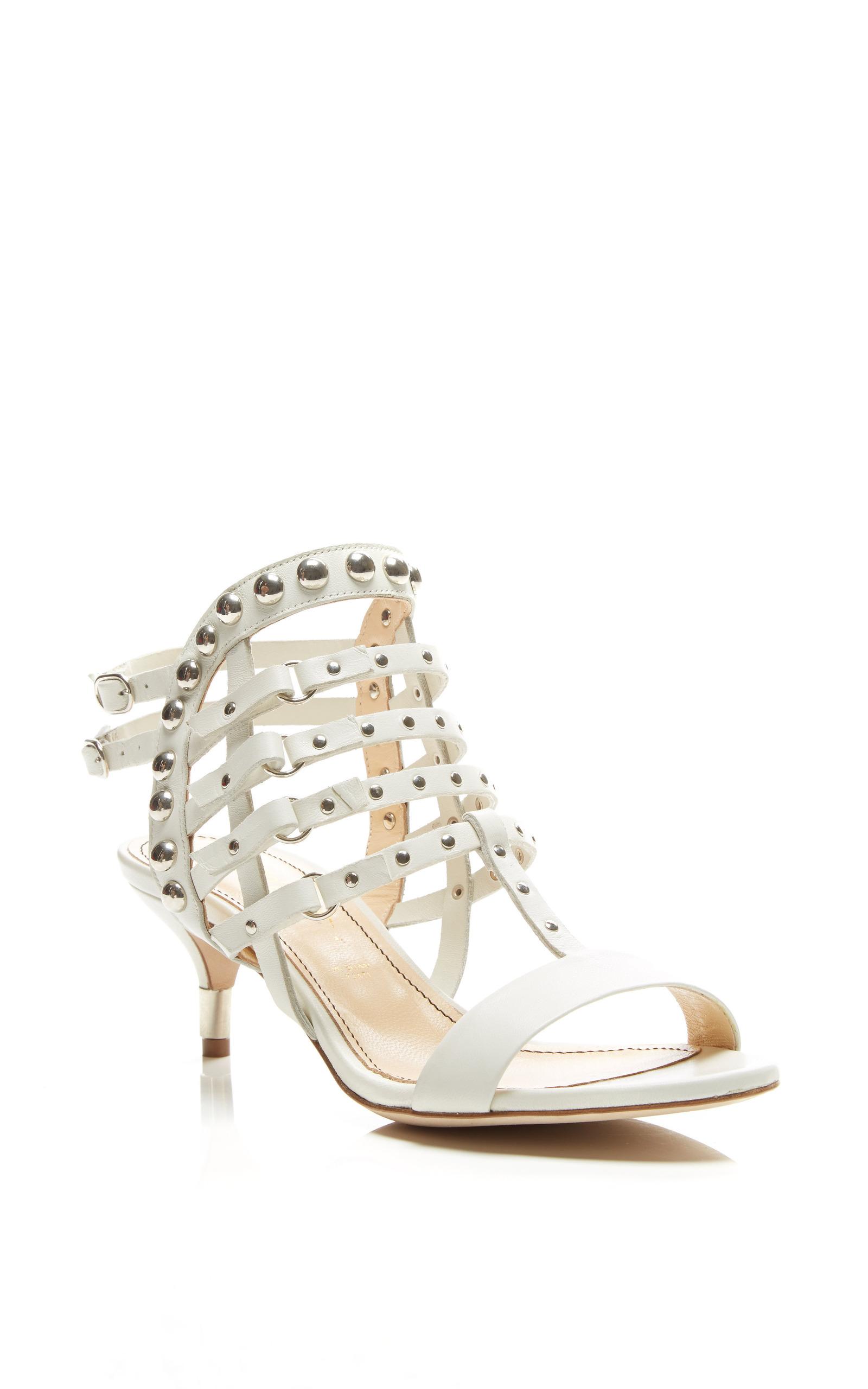 1427ed3b959 Jerome C. RousseauCamden Kitten Heel Sandal In White. CLOSE. Loading.  Loading