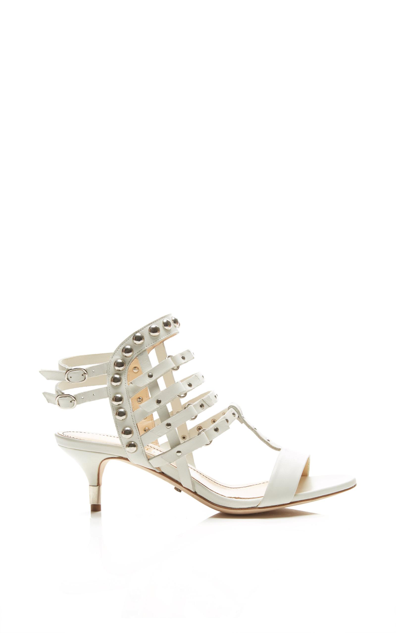 48d6e7bc1d0 Camden Kitten Heel Sandal In White by Jerome C. Rousseau