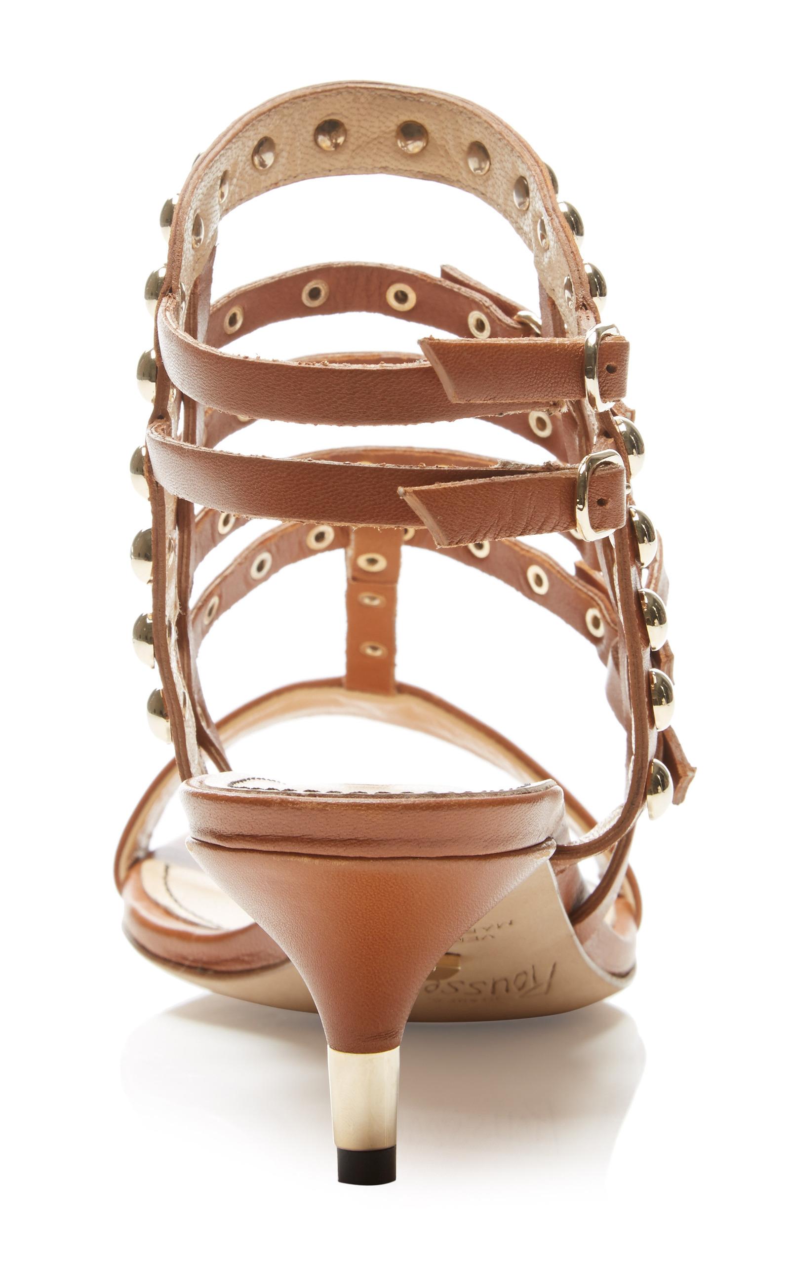 6f73999a904 Jerome C. RousseauCamden Kitten Heel Sandal In Tan. CLOSE. Loading.  Loading. Loading
