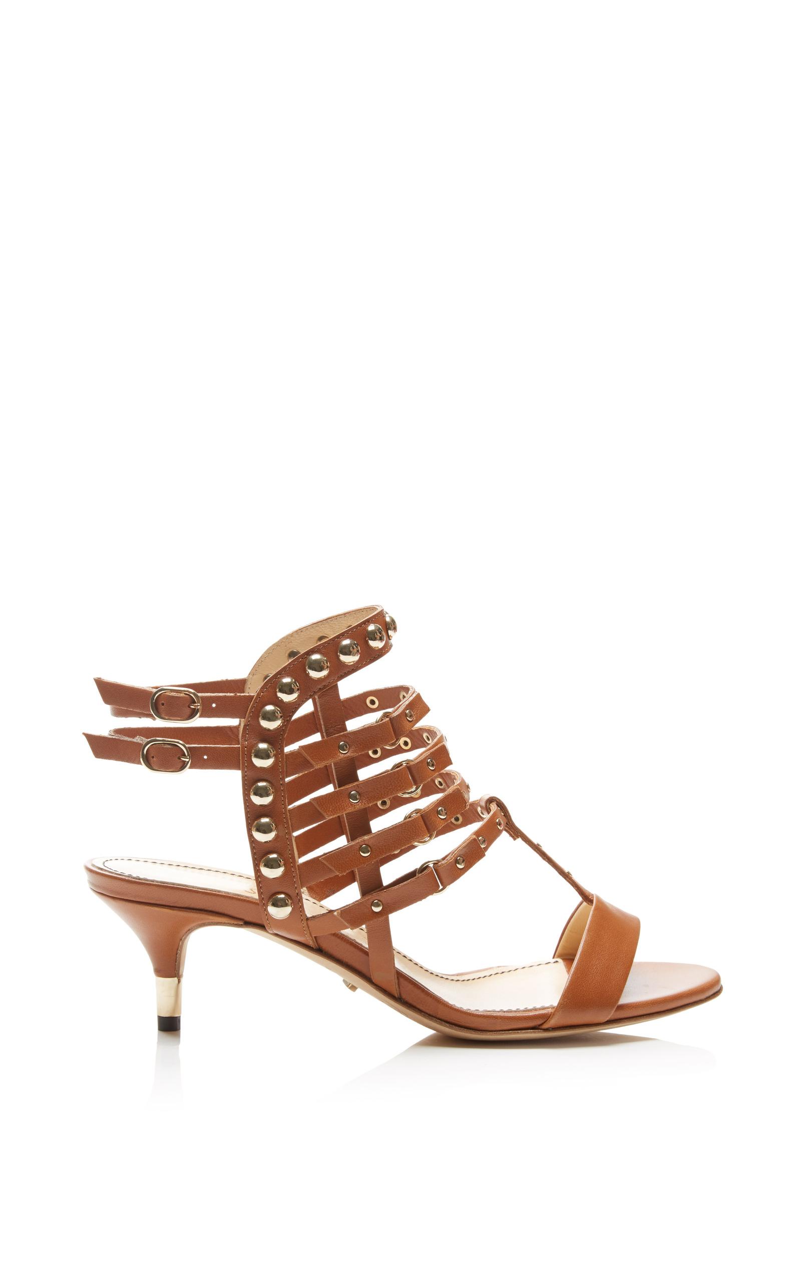d837ed07607 Jerome C. RousseauCamden Kitten Heel Sandal In Tan. CLOSE. Loading